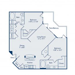 B2E Two Bedroom Floorplan