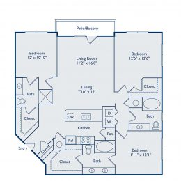 C3 Three Bedroom Floorplan